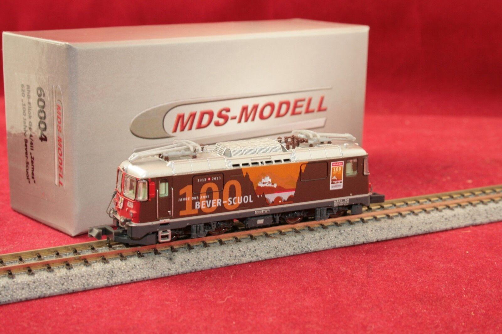 MDS-modello 60004 E-Lok GE 4 4 II Zernez 620 RHB  100 anni bever-Scuol  Nuovo Scatola Originale