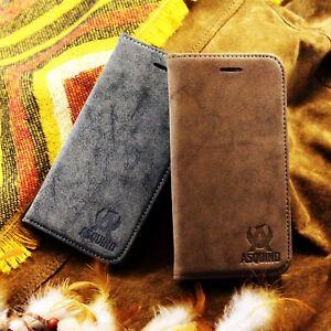 Applei-Phone-5-5s-SE-Etui-Wildleder-Synthetisch-Tasche-Flip-Case-Cover-Huelle