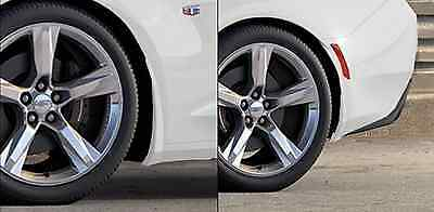 OEM NEW Rear Splash Guards Mud Flaps Summit White 2016-2019 Camaro 23436531