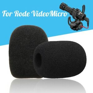 1Pair-Microphone-Windshield-Sponge-Foam-Cover-For-Rode-VideoMicro-Audio