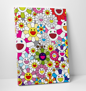 Takashi-Murakami-Flowers-in-Heaven-Smiley-Faces-Gallery-Art-Canvas-Complexcon