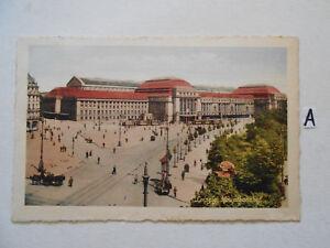 Carte Postale Vue Carte Saxe. Leipzig Gare Centrale-g Hauptbahnhof Fr-fr Afficher Le Titre D'origine Renforcement De La Taille Et Des Nerfs