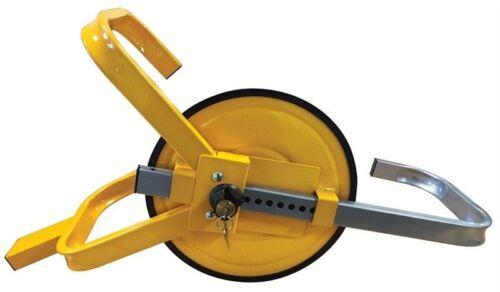 43cm clamp round Full face wheel lock steel security car trailer caravan 33cm