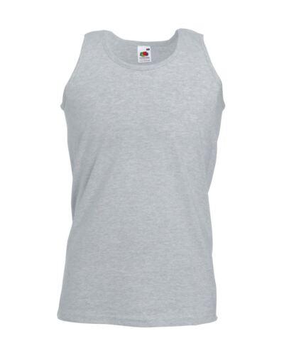 Fruit of the Loom Plain Mens Tank Tops Athletic Vest Gym Training Sports T Shirt