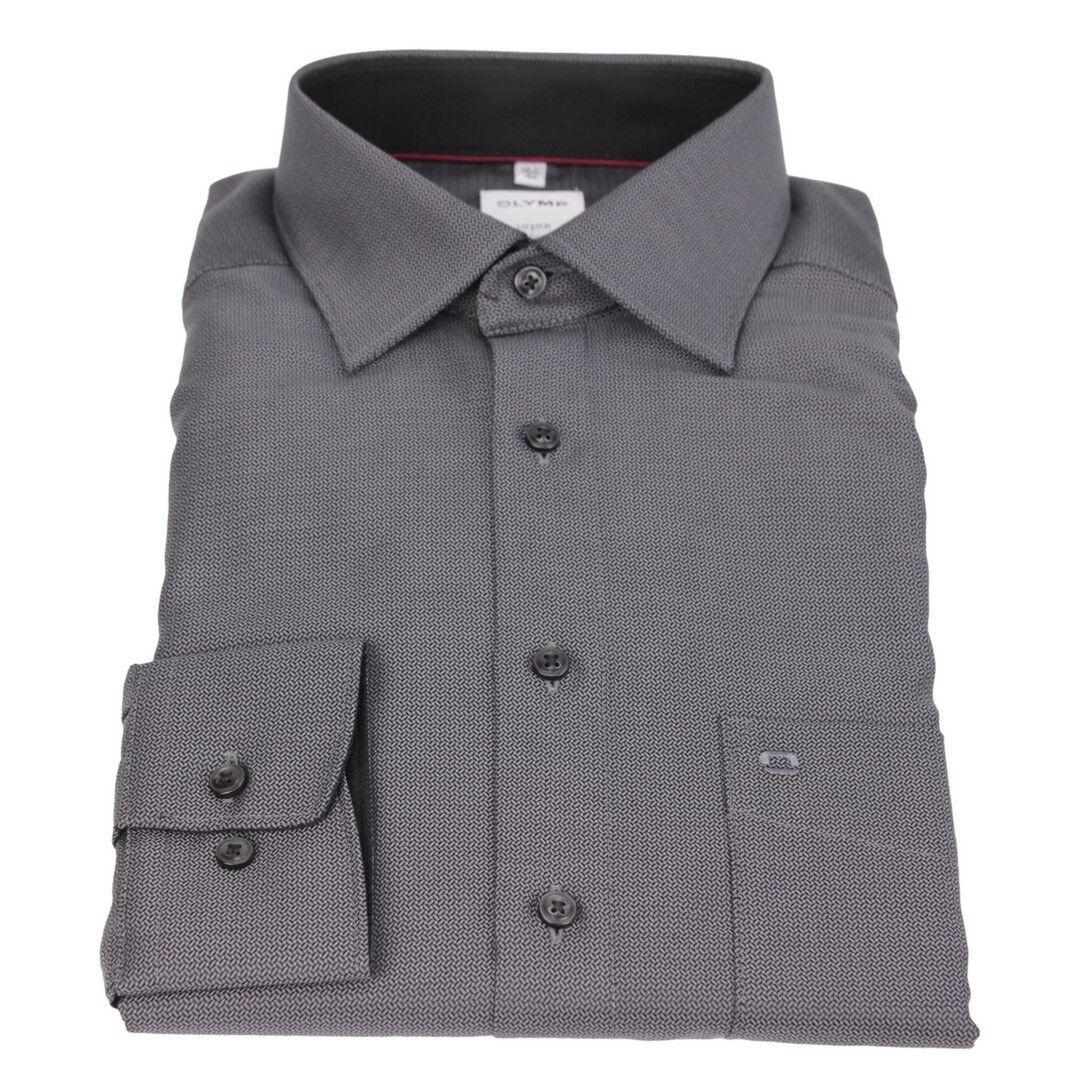 Olymp Luxor Comfort fit Hemd grey Minimal Muster 1017 24 68