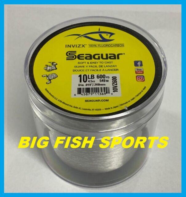 SEAGUAR INVIZX 100% Fluorocarbon Line 10lb/600yd 10VZ600 FREE USA SHIP! 10VZ600