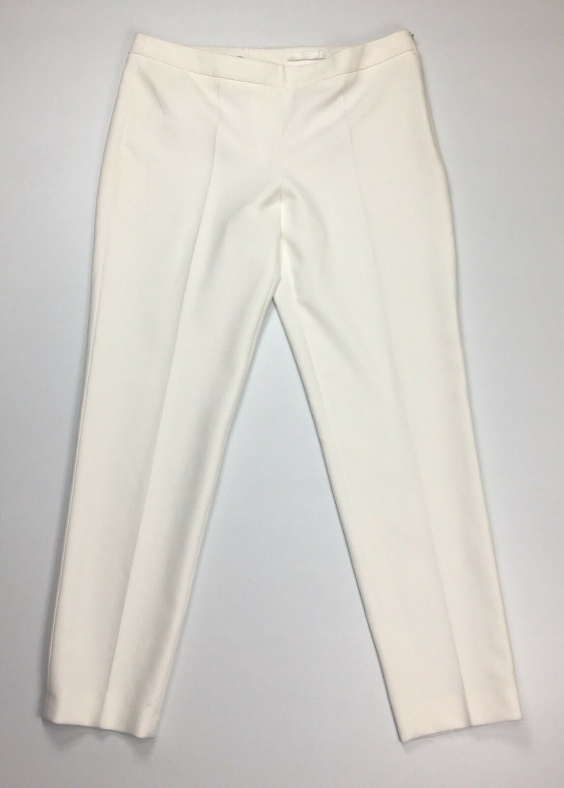 BOSS Women's Size 6 Regular-fit Slim Leg Trousers Pants Stretch Side Zip  H431