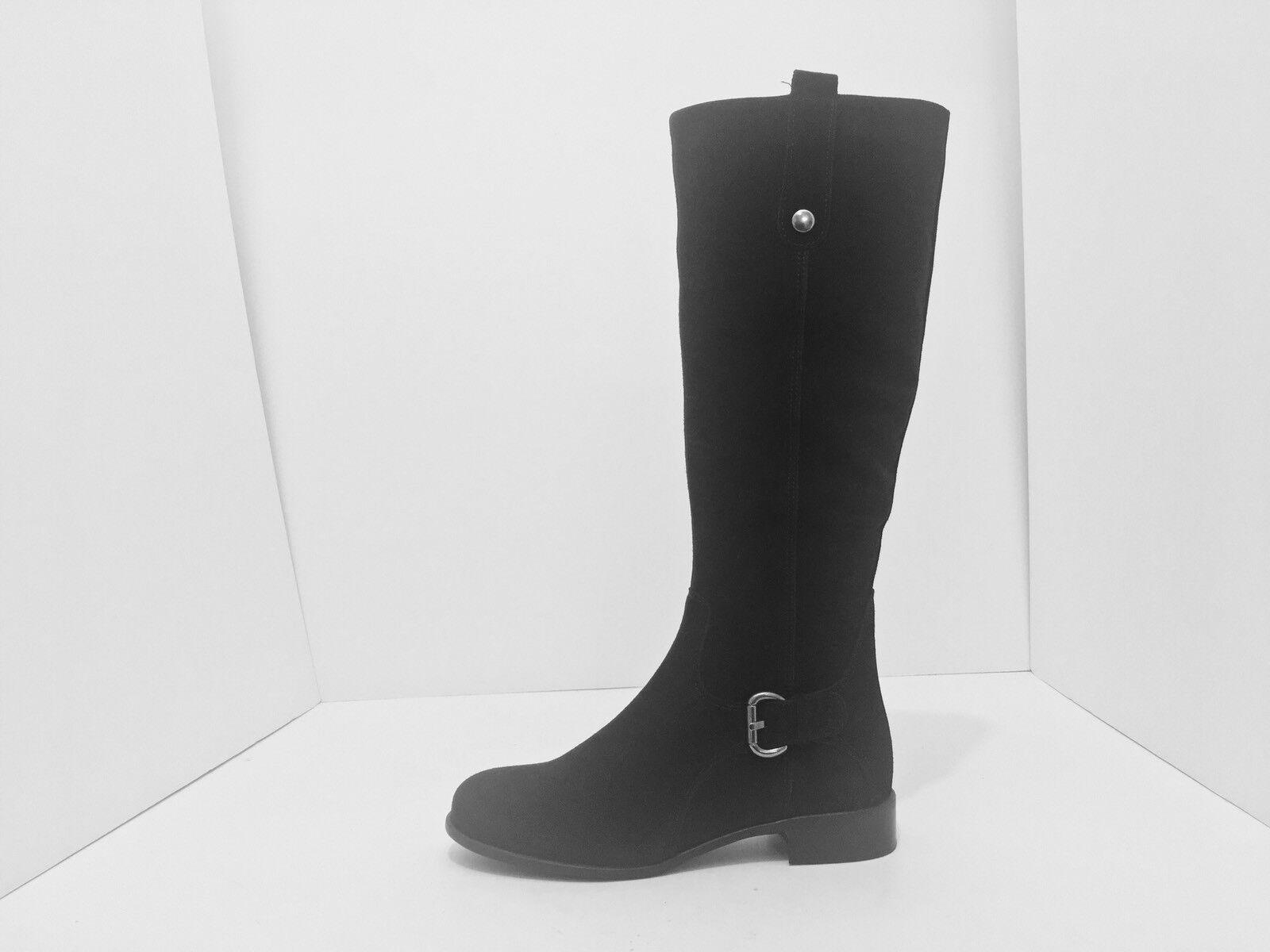 La Canadienne Stefanie Black Suede Women's Knee High Low Heel Boots Size 5 M