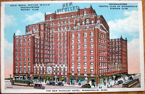 1920s-Postcard-039-New-Nicollet-Hotel-Rotary-Kiwanis-Minneapolis-Minnesota-MN-039