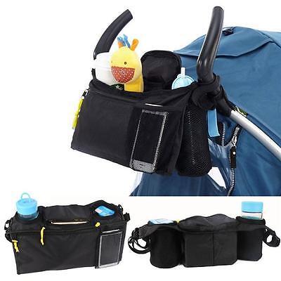 Pram Pushchair Stroller Buggy Baby Bottle Drink Food Bag Organiser Storage Bag T