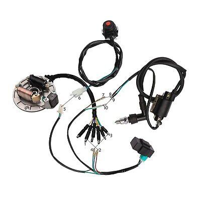 50 110cc 125cc wiring wire harness cdi coil dirt bike stator magneto lifan  ssr  ebay