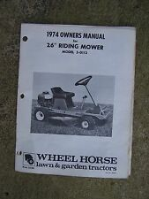 """1974 Wheel Horse 26"""" Riding Lawn Mower 3-0113  Owners Manual MORE IN OUR STORE U"""