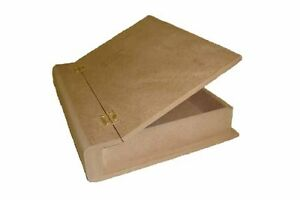 MEDIUM-MDF-BOOK-BOX-BLANK-READY-TO-DECORATE-WITH-BRASS-HINGES-S-amp-J-WOODCRAFT