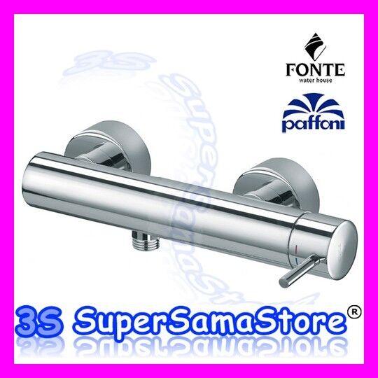 3S MISCELATORE RUBINETTO DOCCIA ESTERNO A PARETE LIGHT PAFFONI FONTE LIG168 CR