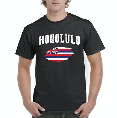 Born and Raised Hawaii State Flag Mens Soft T Shirt