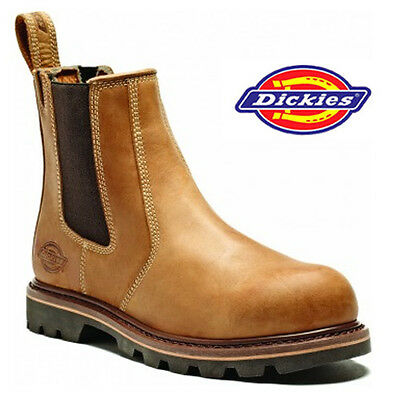 MENS DICKIES SAFETY DEALER CHELSEA STEEL TOE CAP MIDSOLE WORK BOOTS SHOES