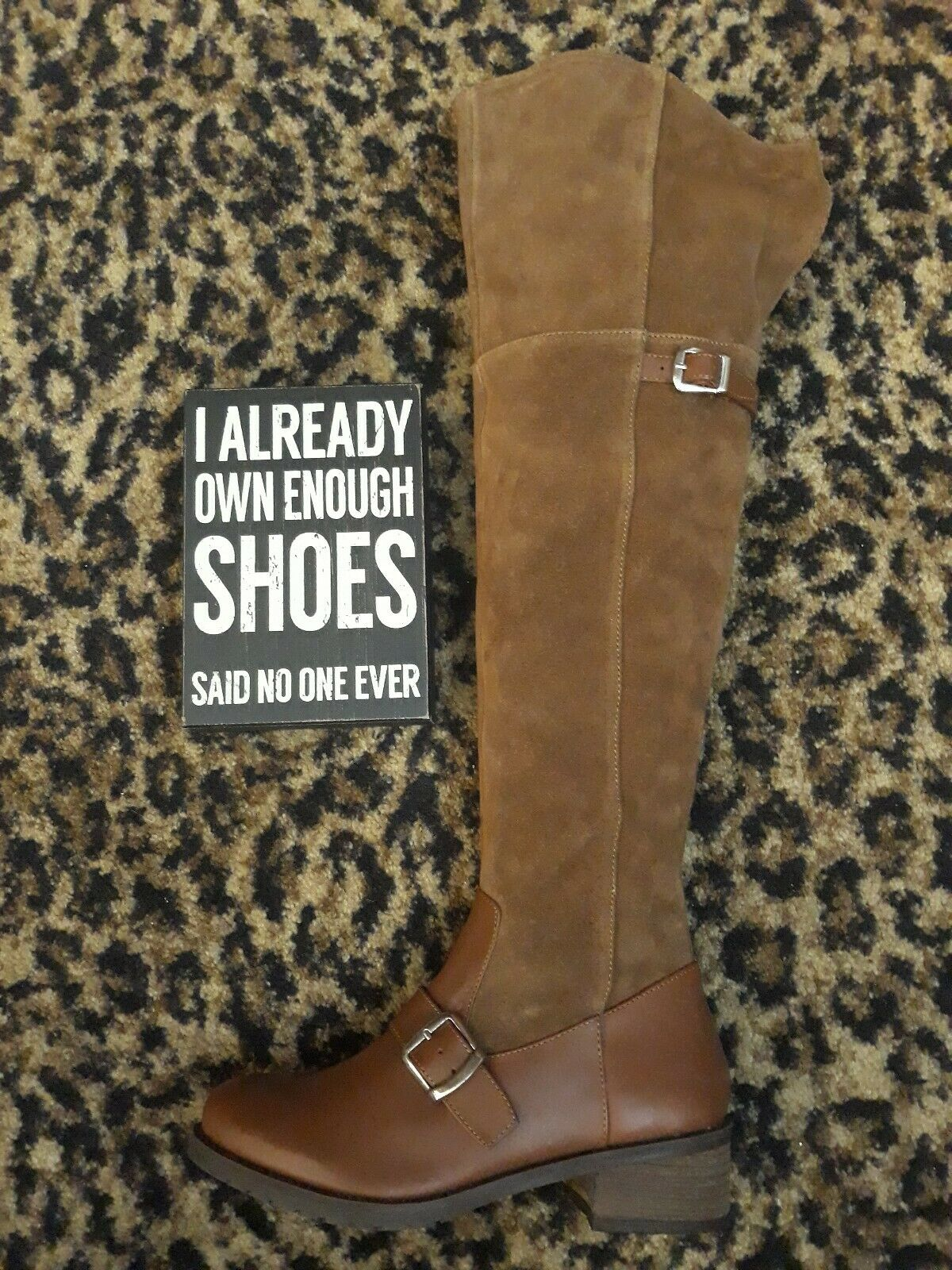 Matisse Lola Over Knee Tall Riding Boot Equestrian Brown Suede Leather  6 M