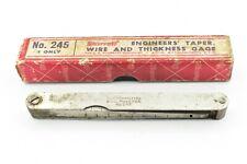 Starrett No 245 Engineers Taper Wire Thickness Gage