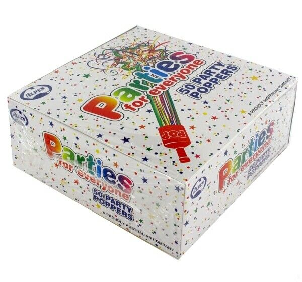 Party Poppers Pk50