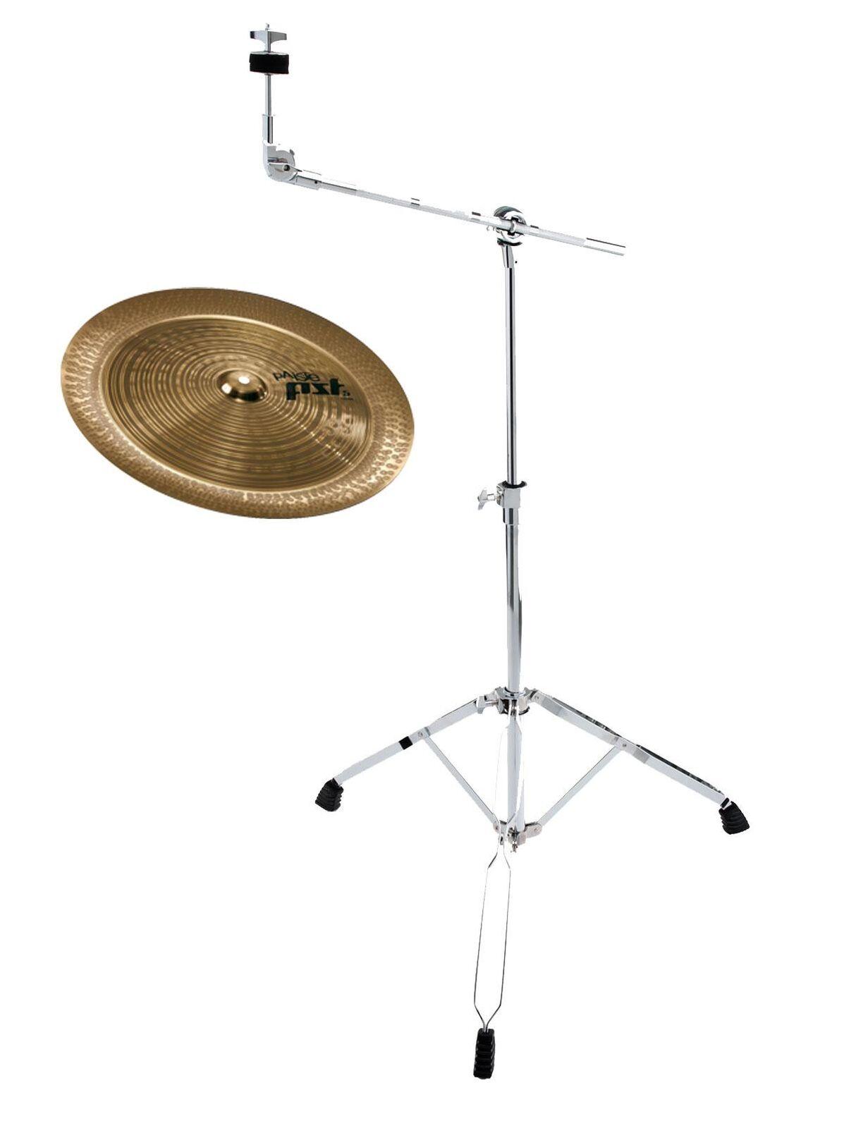 Tolles Paiste 18  PST 5  na mit Galgenständer Set Ideal für Erweiterung Drums