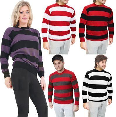Adults Stripe Knitted Convict Jumper Unisex Long Sleeve Halloween Costume Top Ein Unverzichtbares SouveräNes Heilmittel FüR Zuhause