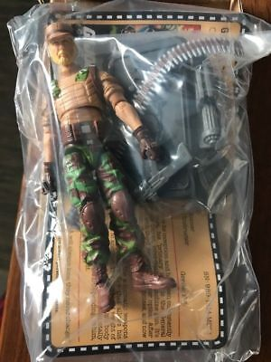 G.I.JOE EXCLUSIVE COLLECTOR/'S CLUB GATLING GUNNER ROCK /'N ROLL