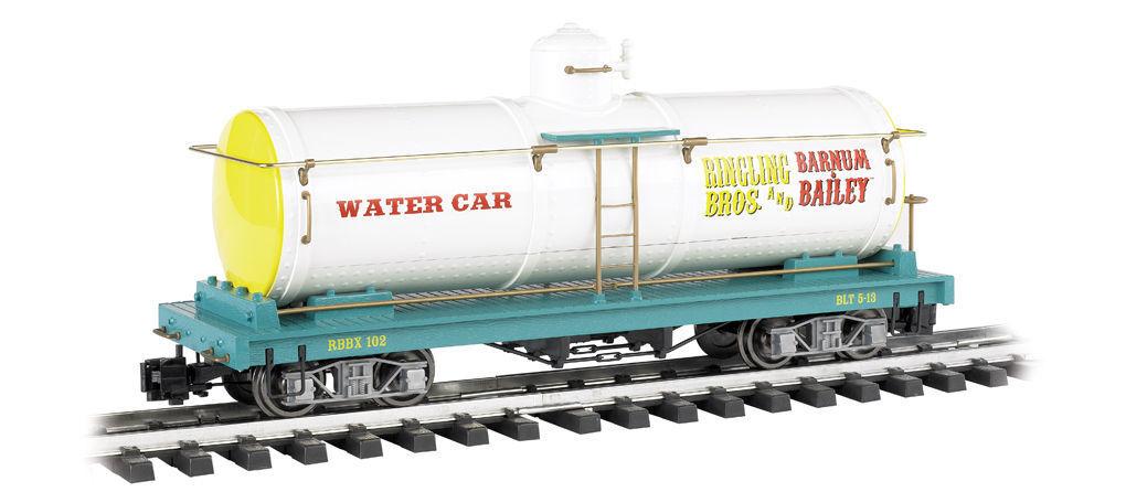 Bachmann 92712 G skala Ringling Bros, Water Tank bil w  Metal hjuls NEW IN låda