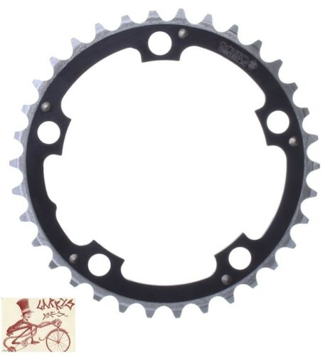 ORIGIN8 RAMPED 94mm 5-BOLT 32T BLACK ALLOY BICYCLE CHAINRING