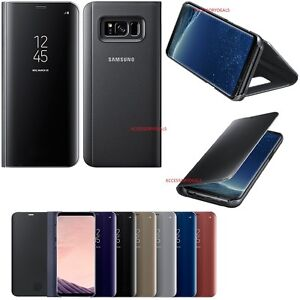 uk availability 4e9a6 88188 Details about Original Samsung CLEARVIEW FLIP COVER Galaxy S8+ PLUS mobile  cell phone sm g955f