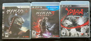 Ninja Gaiden 2 Sigma, Ninja Gaiden 3, Yaiba: Ninja Gaiden Z (PS3) *COMPLETE*