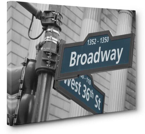 Lona Broadway SIGN pared arte impresión ciudad de Nueva York a1 a2 Nuevo
