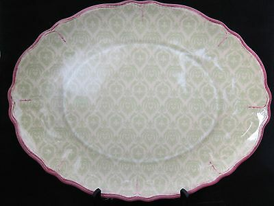 """Platter by Le Cadeaux,  Lightweight Oval , 12"""" X 16"""". Green, Yellow, NWT"""