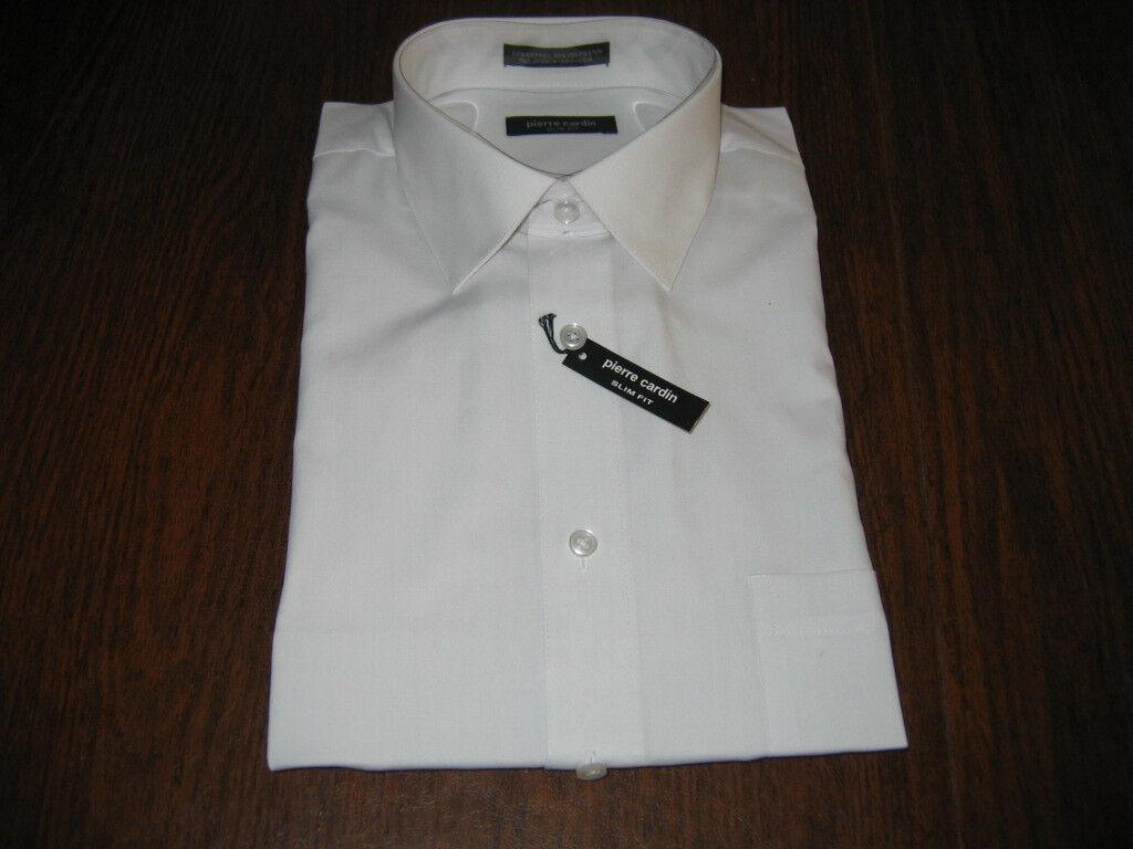 Mens Pierre Cardin Designer Dress Shirt 16 165 3435 White Button