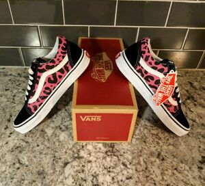 5f0cf0831fe8 VANS OLD SKOOL LEOPARD PRINT PINK & BLACK MEN'S US 5.5 WOMEN'S US ...