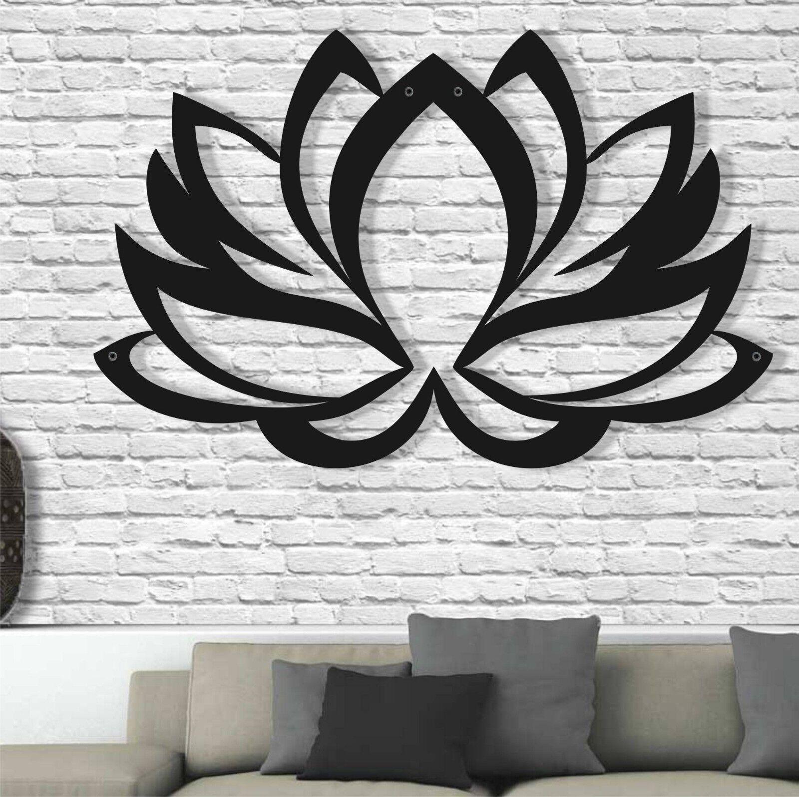 Fleur de Lotus METAL WALL ART 3D Mur Silhouette Metal Wall Decor Home Décoration