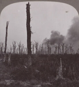 WW1-H-E-Shells-Bursting-in-Mametz-Wood-Hotly-Contested-with-the-Prussian-Guard