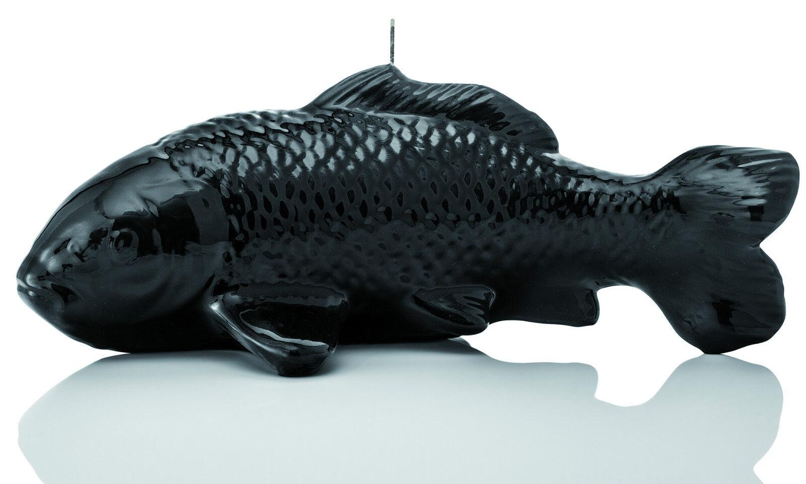 Luxus Design Kerze Koi 32cm Länge Schwarz Handarbeit Kerzen Wiedemann Neuheit | Der neueste Stil