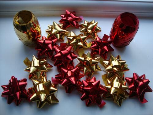 4 Ruban flics Noël Xmas Fête Cadeau Décor 32 X Stick Confettis Bows