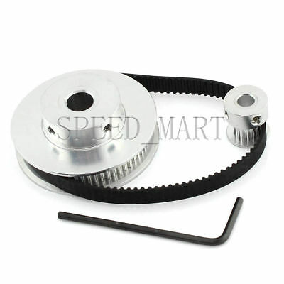 GT2 80//20 Teeth Pitch-2mm W-6mm Timing Pulley Belt set kit Reducer Ratio 4:1