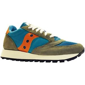 Saucony-Jazz-Original-Vintage-A17000-6-Teal-Olive-Youth-Running-Low-top-Trainers