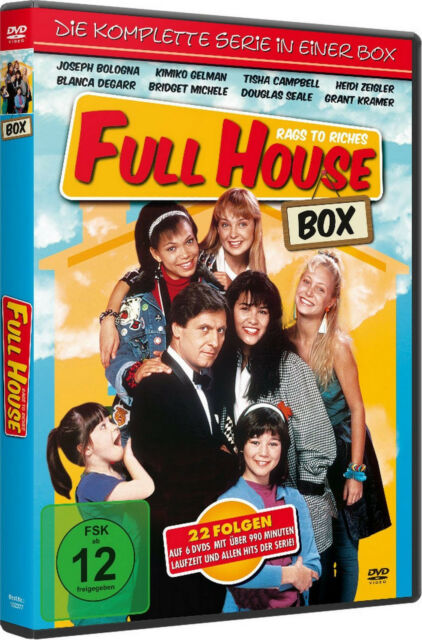 FULL HOUSE RAGS TO RICHES Staffel 1 2 DIE KOMPLETTE TV-SERIE 6 DVD Box Edition