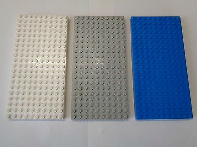 Lego 1 plaque de base gris fonce// 1 dark bluish gray baseplate 8154 8135 7945