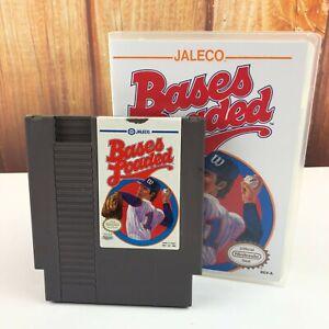 Bases-Loaded-Nintendo-NES-Game-MLB-Jaleco-In-Plastic-Box-Case-VTG-Free-Shipping