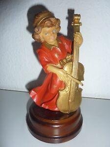 """Musikinstrumente Exquisite Traditional Embroidery Art Energetic Spieluhren Spieluhr Weihnachten Engel """"stille Nacht"""" Defekt!!"""