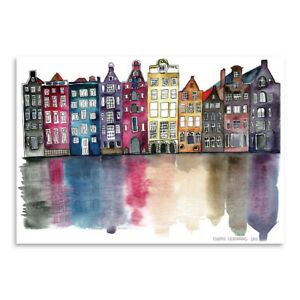 Americanflat Amsterdam by Claudia Liebenberg - Poster