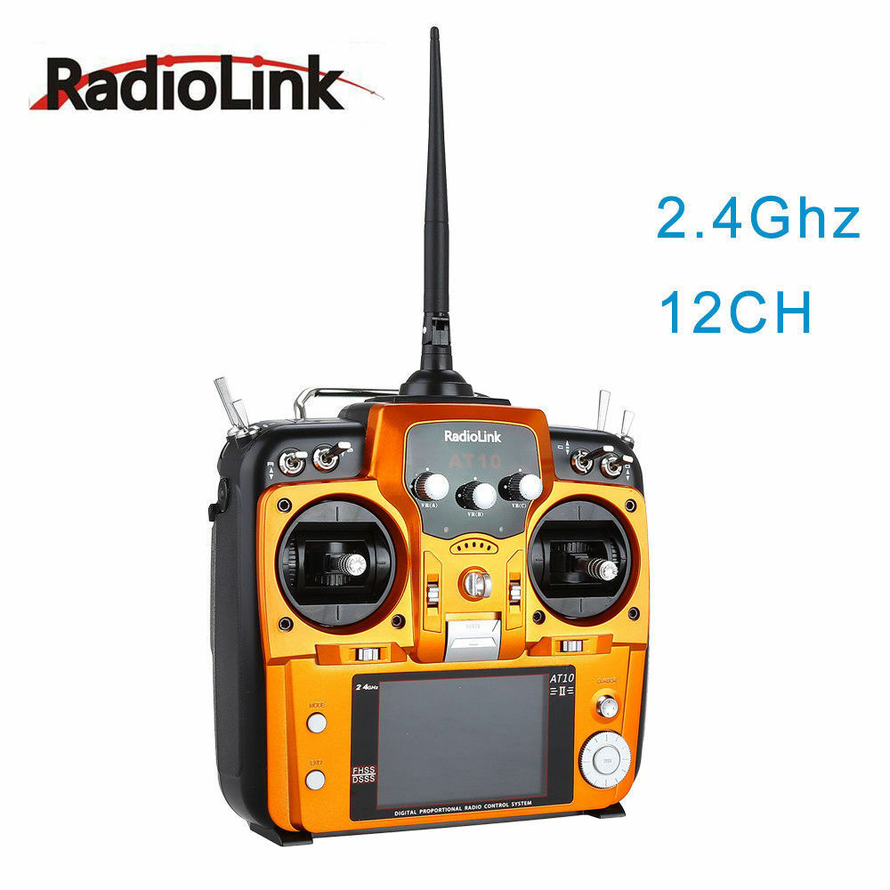 RadioLink AT10 II 12CH RC Remote Control&R12DS Receiver for RC Drone Multicopter