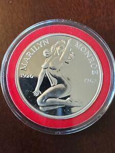 Marilyn Monroe Nude One Troy Ounce 1oz .999 Fine Silver