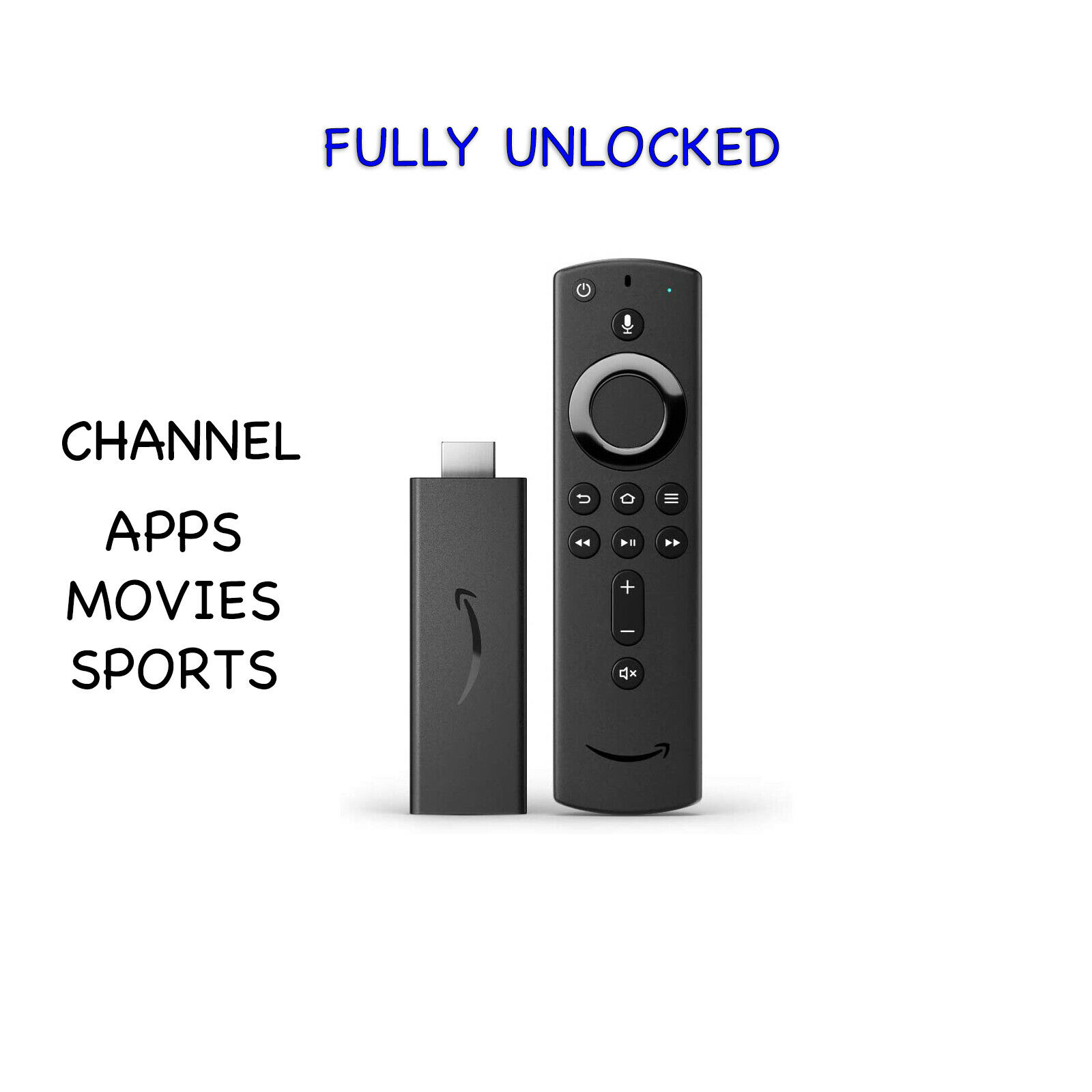 Unlocked Fire Stick Lite With Extra Movies Sports Apps Channels. Available Now for 69.99