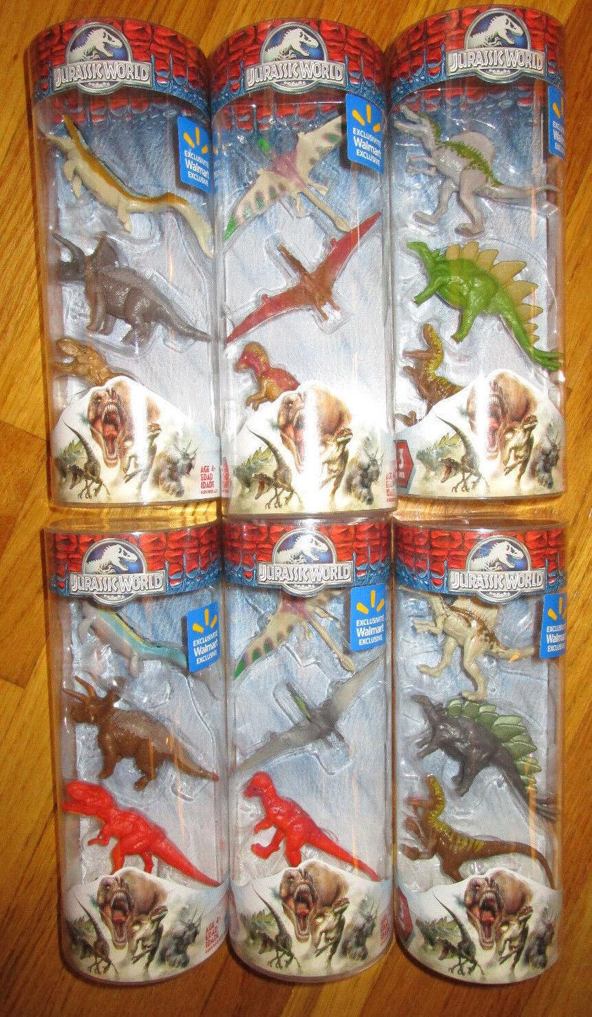 JURASSIC WORLD WALMART EXCLUSIVE MINI DINOSAUR TUBES SET 18 Variant Dino Figures