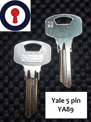 Key Blanks Yale YA89 5 Pin Blank Silca x 5 blanks 1st Class P/&P